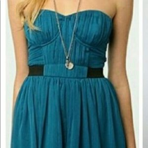 Urban Outfitters, Pins & Needles Strapless teal